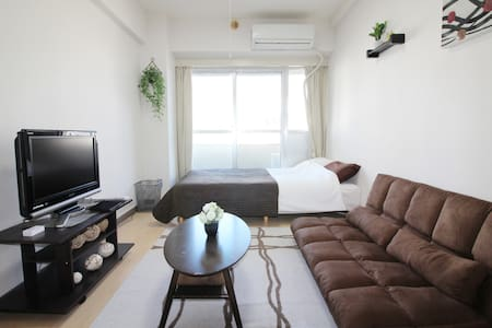 8 min walk from Shinjuku sta! Max4ppl / free wi-fi - Shinjuku-ku - Appartement