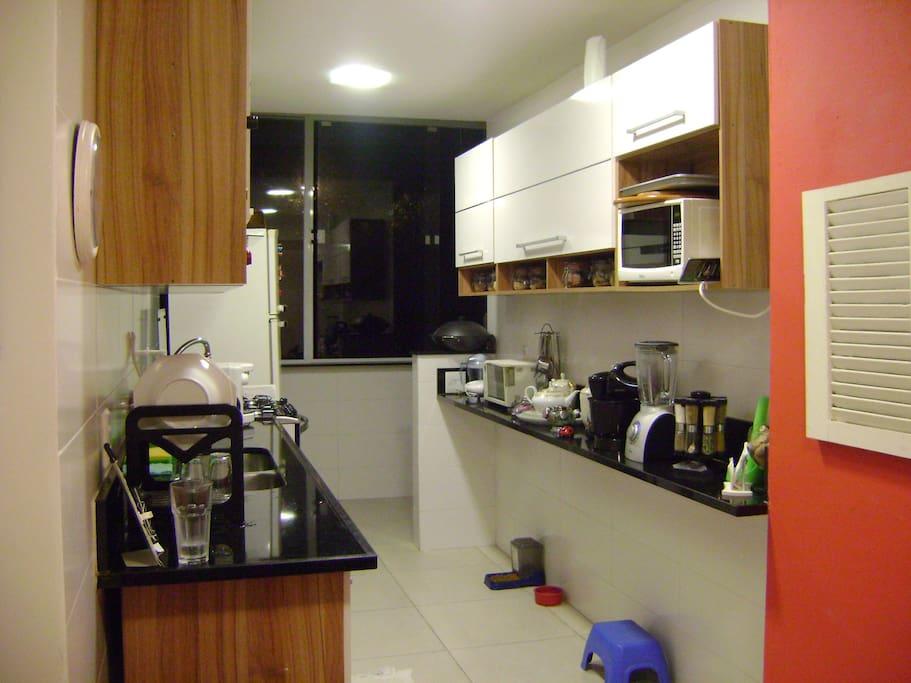 Cozinha ampla - 1o andar