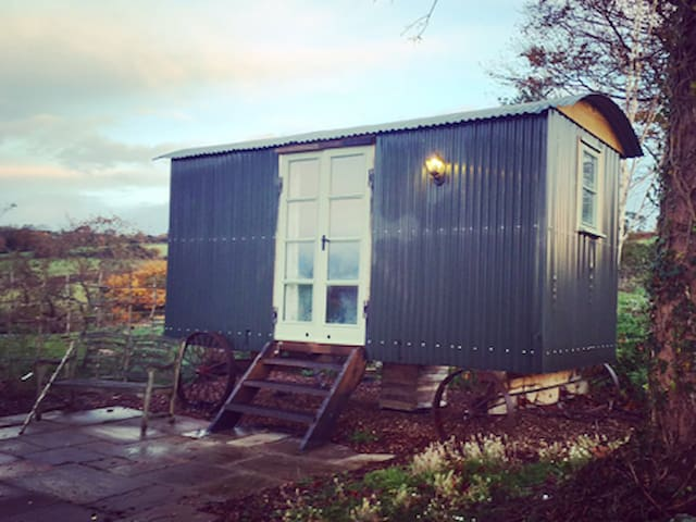 Simple yet luxurious Shepherd's Hut,stunning views - Bridport - Pondok
