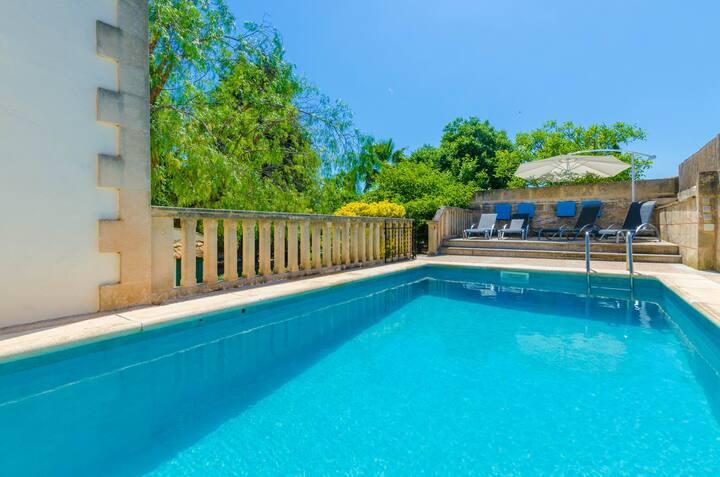 CAS CONVIDATS - Villa with private pool in Alaro. Free WiFi