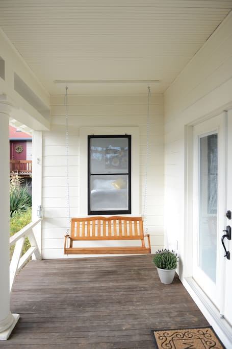 Relax with a drink, on the front porch!