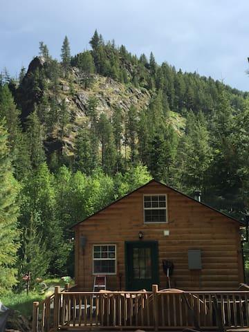 Back of the cabin looking towards Moose Peak.