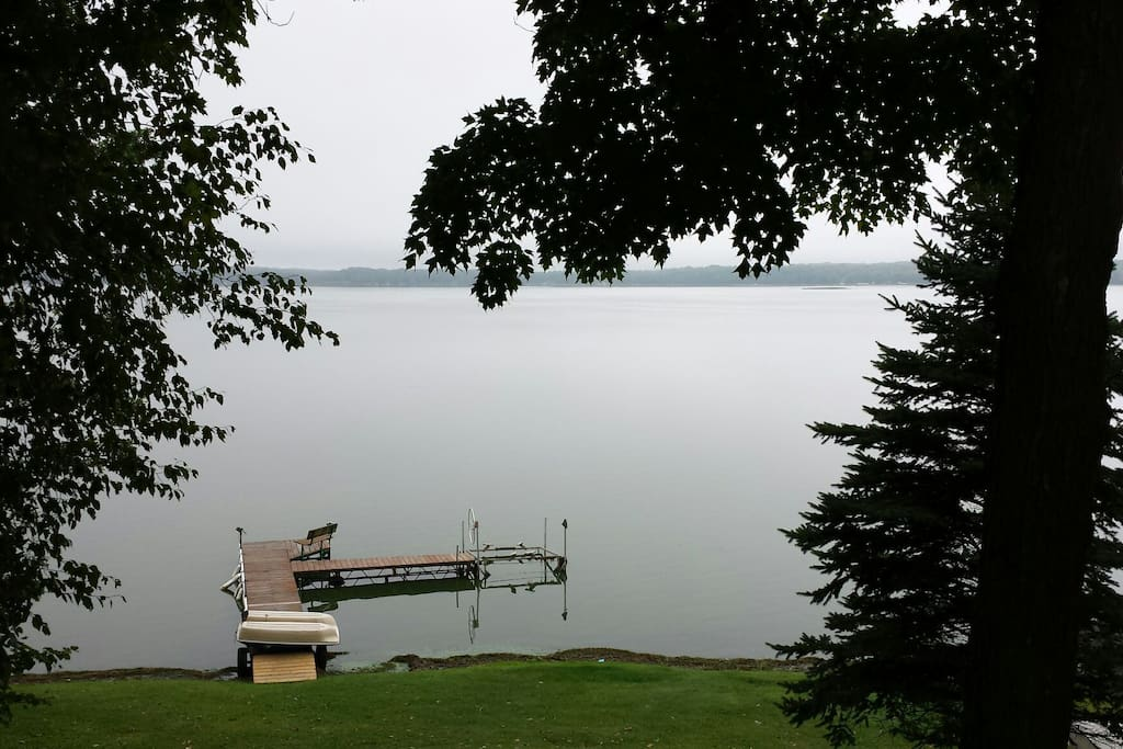 View of lake from cabin.