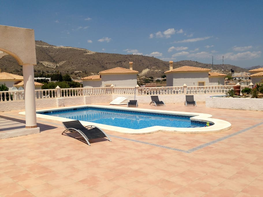 spacious plot with pool and garden