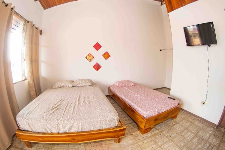 DULCE VIDA #3 TV . DOUBLE PLUS SINGLE BED/ BALCONY