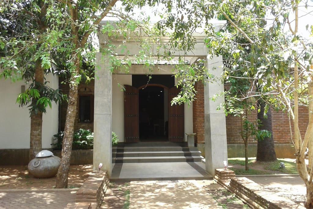 walk through the big doors to enjoy the Alakamanda experience