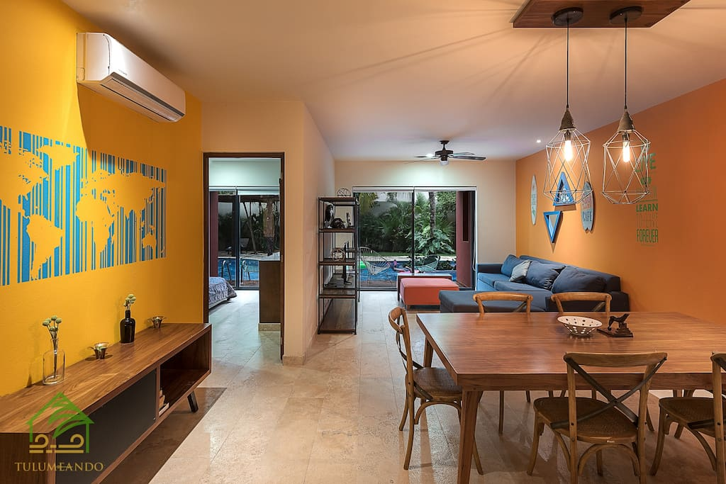 Direct Windows to the desk and swimming pool with our Swim Up!