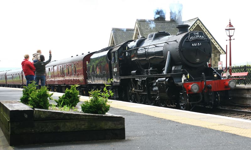 Good service to Dent Station. Steam special trains pass through & can be pre booked.