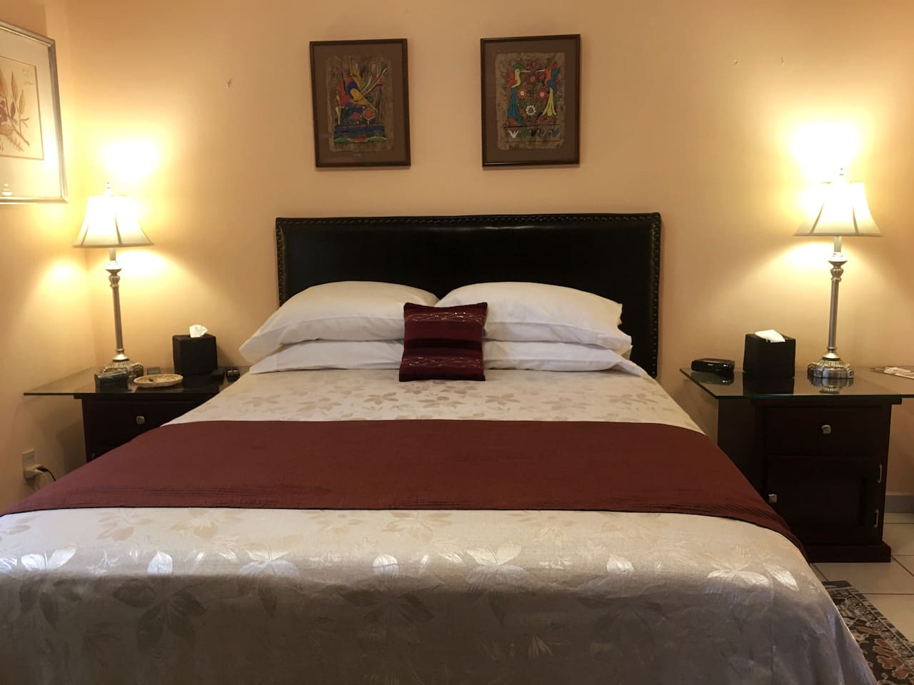 Each bed is offered 4 pillows, offering a choice in firmness and comfort.