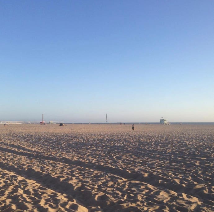 Beautiful Santa Monica Beach, a few blocks from your home