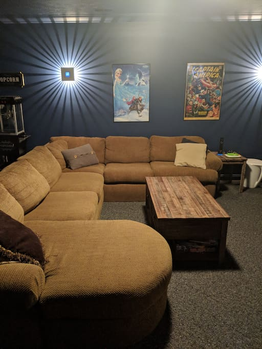 Couch / Theater Room