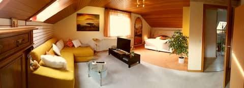 Marburg Apartment mit Außensitz im Wintergarten