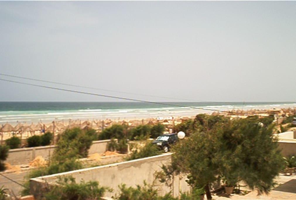 Vue de la plage(balcon)
