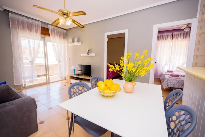 "Apartament ""LIMONKA"" w La Mata, 50m do plaży"