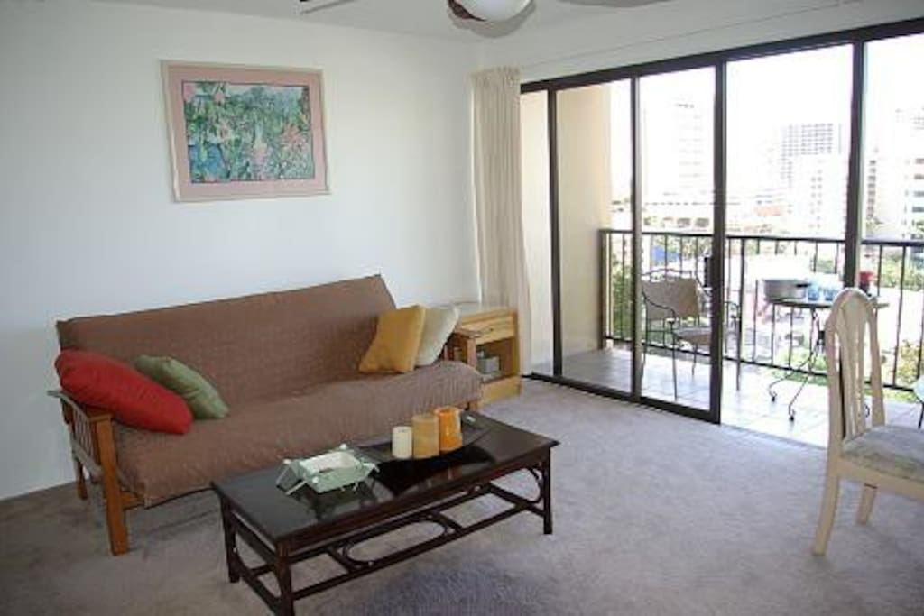 Breezy and open living area w