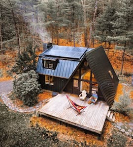 A Black A- Frame: Sustainable Catskills Cabin