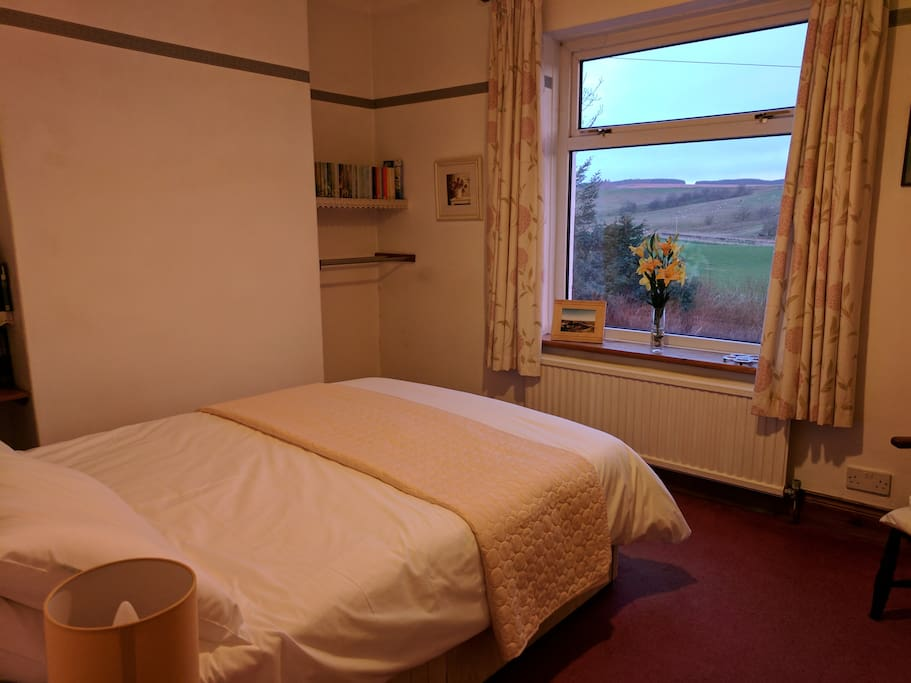 The second double bedroom has a gorgeous view over the hills and toward Hadrian's wall