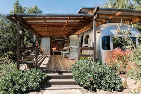 Kick Back in an Iconic 1974 Airstream on an Organic Ranch