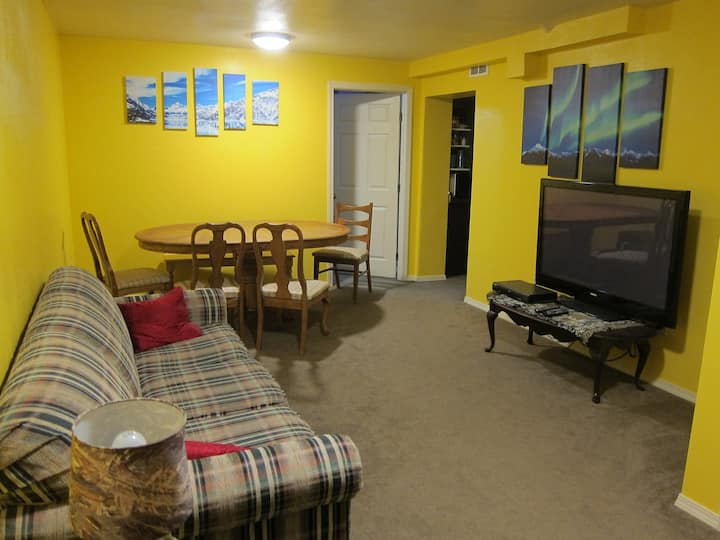 Apartment in Wasilla, gateway to Alaska adventure.