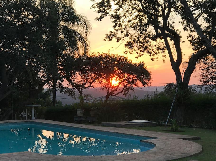 Vista do Pôr do Sol