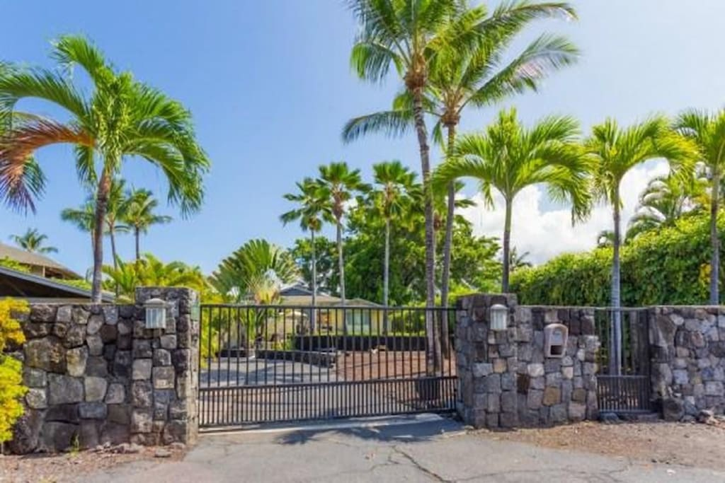 Gated private house at Keauhou Resort area