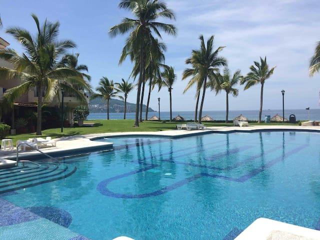 Beachfront Condo in Best Resort!