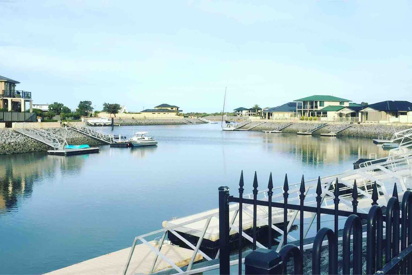 Wake up to this peaceful view of the marina when you stay at Tumby Bay Marina Villa