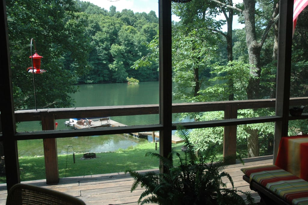 Lake View from the large screened in porch.