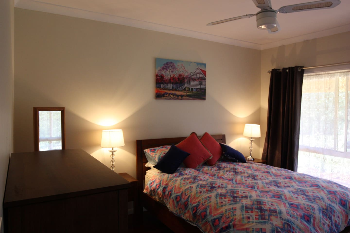 Master Bedroom - Queen Bed. Room has its own Air Conditioner.