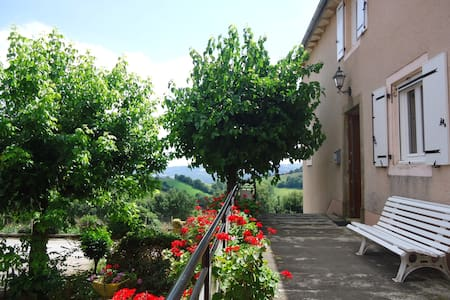 Gd gîte calme 12 pers.  Aveyron. Semaine moins 60% - Broquiès - บ้าน
