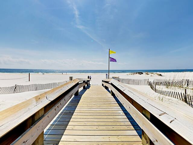 Walk to the beach, just steps from your front door!