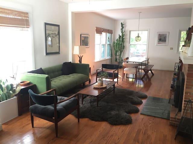 Cozy mid-century modern home.