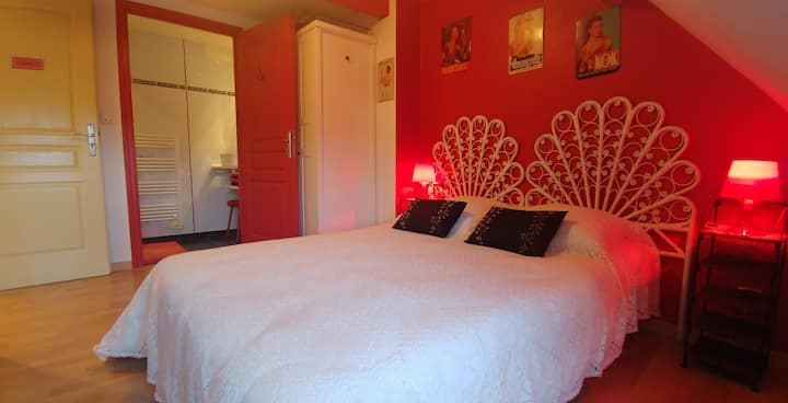 Appartement d'hôtes climatisé/draps/serviettes