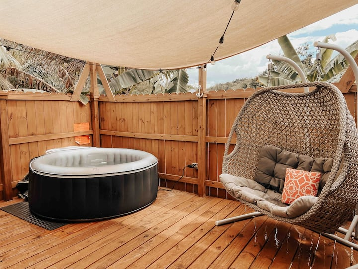 Raíces Container Apt.Private Jacuzzi-Walk to beach