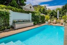 Beautiful communal pool area