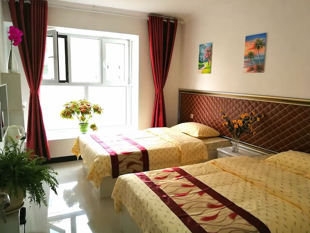 西宁曹家堡机场附近.尚客家庭宾馆+标准间含独立卫生间+免费接送机。