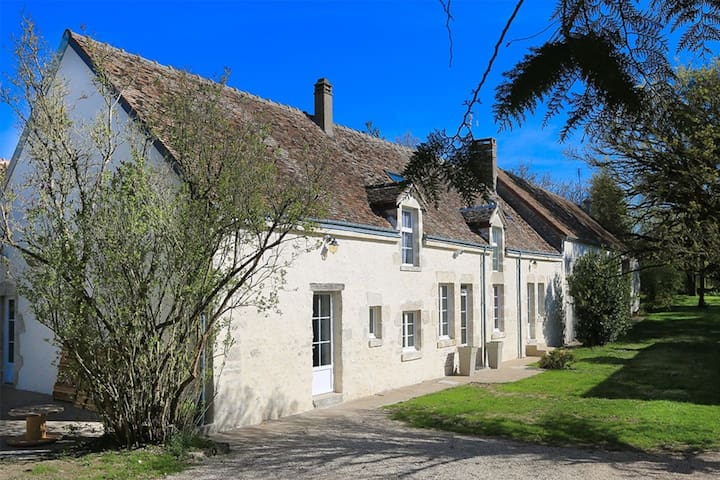 Loire charming country house 12P orchard 3500m2