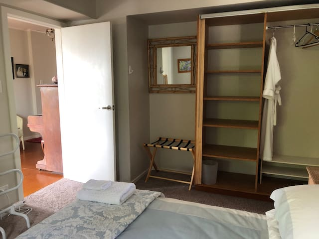 Double bedroom entrance and wardrobe, entrance of dining area.