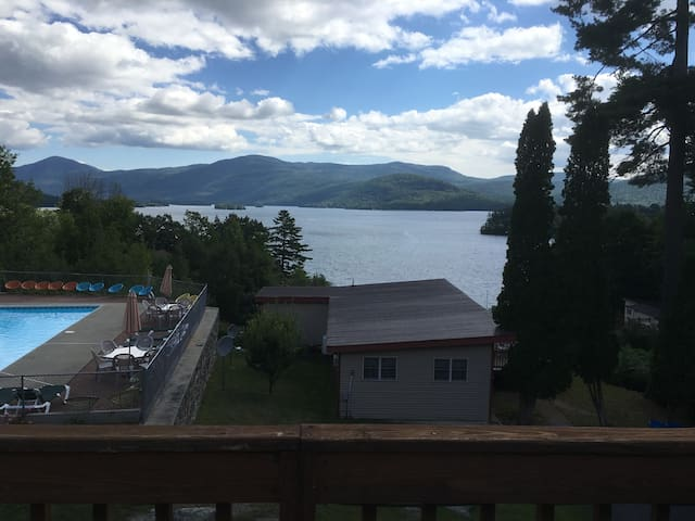 Penthouse #18 with Amazing Views of Lake George