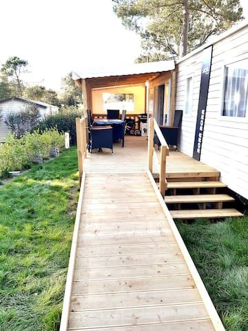 Mobil-home neuf .kit bb .rampe mobilité réduite