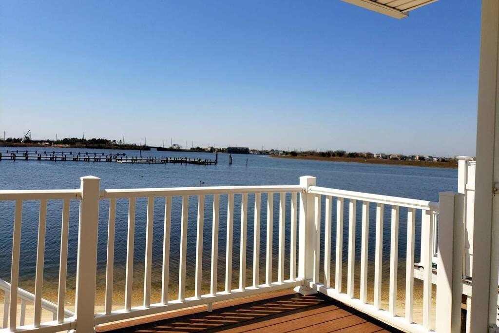 Barnegat Bay view from the patio.