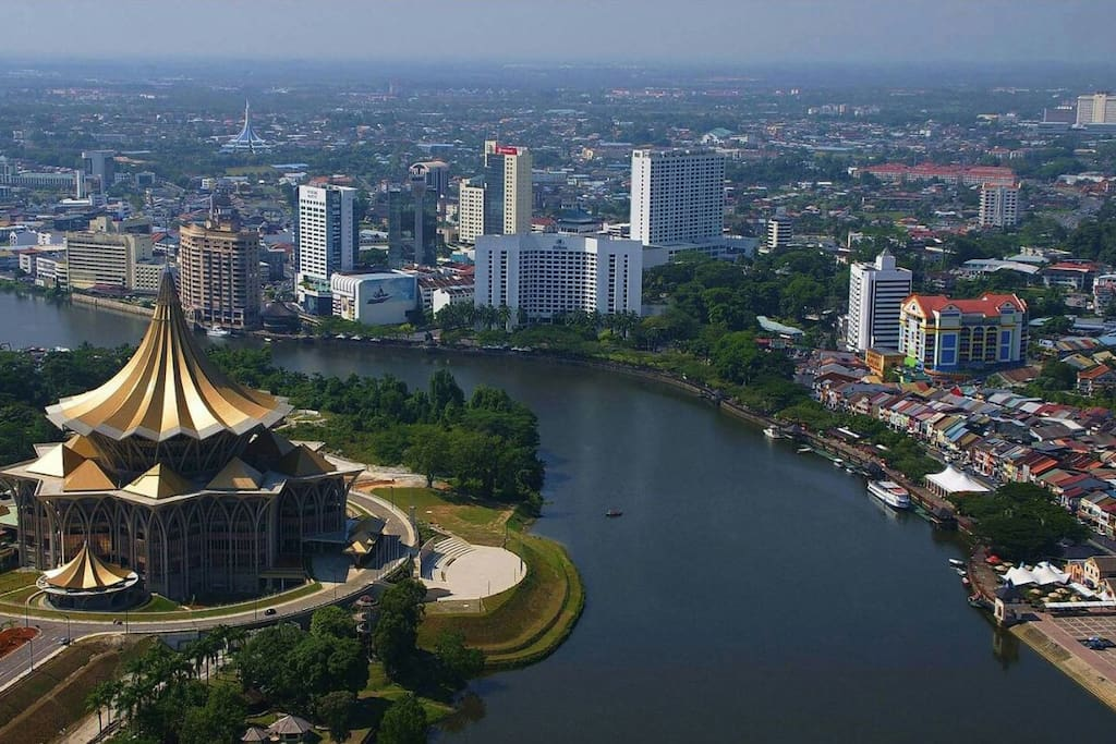 A Bird's View of Kuching City