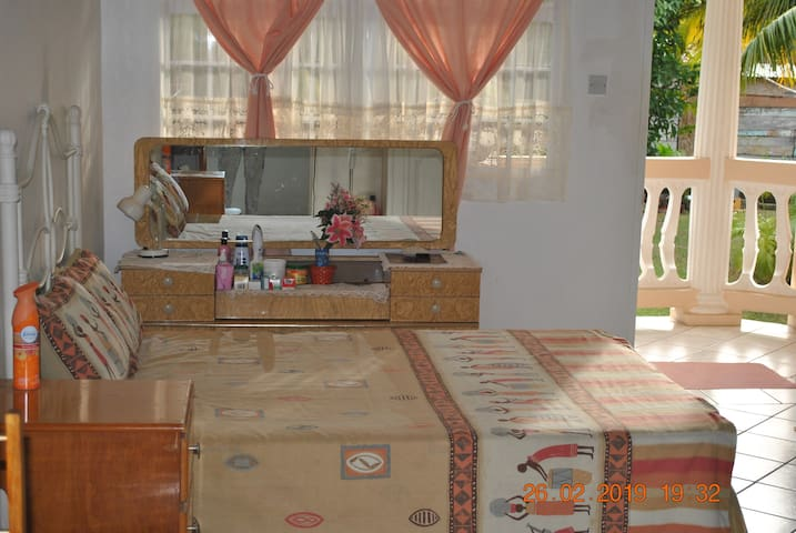 Bedroom 2 can sleep up to 4 persons with a double bed and double sofa bed