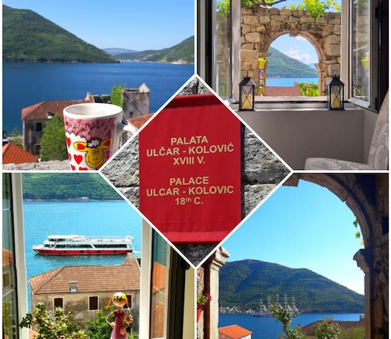 Entire Palace from 18thC, Perast, Sea view