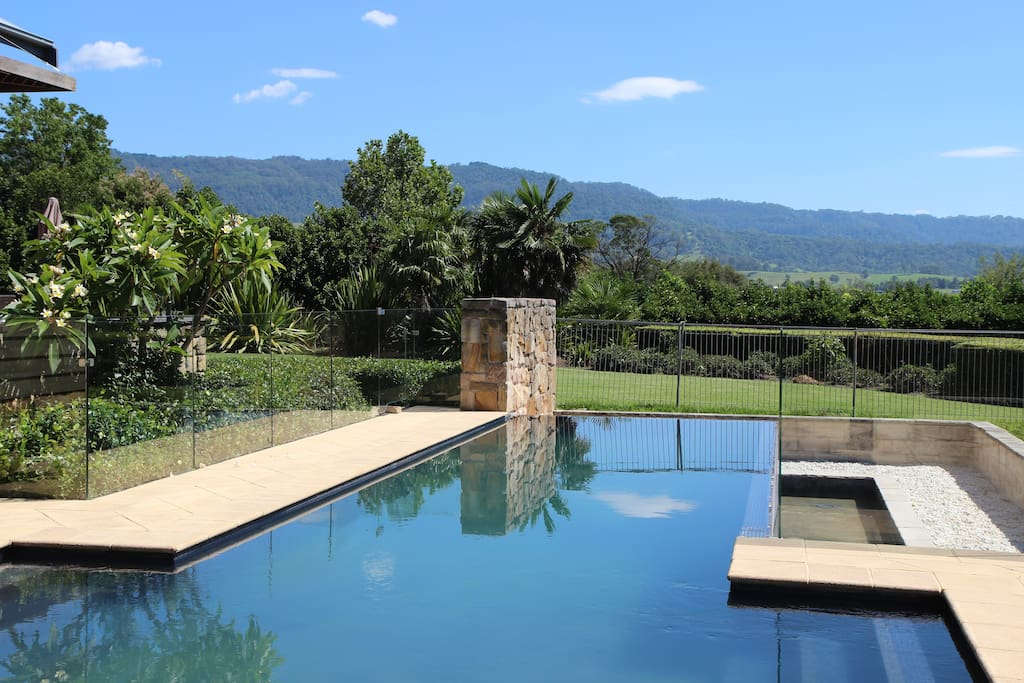View from the pool gazebo of the beautiful Cambewerra mountains