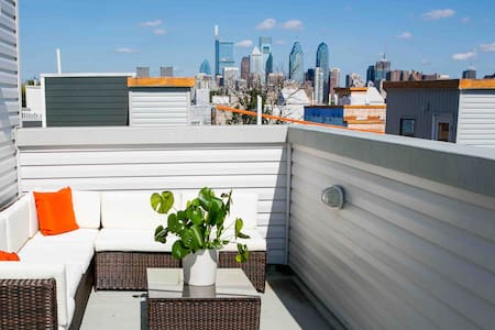 Luxury space and Roof deck with sweeping view!
