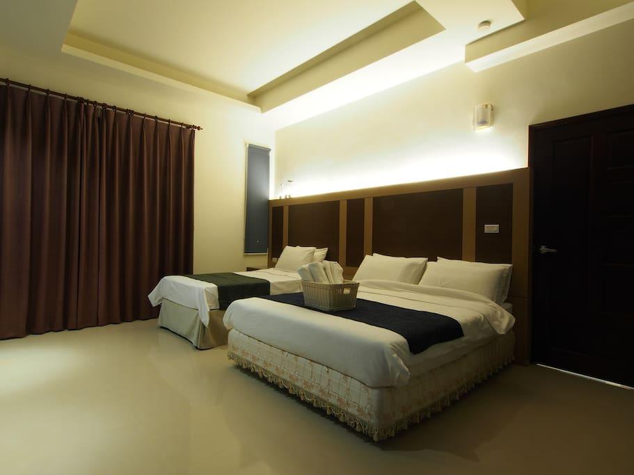 房間1-雙床間附衛浴/Room 1-Two beds with bathroom