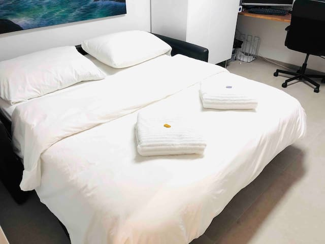 Schlafzimmer 2 Bett 160 cm