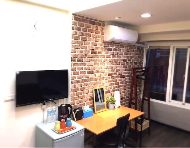 台北西門町捷運站步行5分鐘Ximen MRT 5min溫馨雙人房 - Okręg Wanhua - Apartament