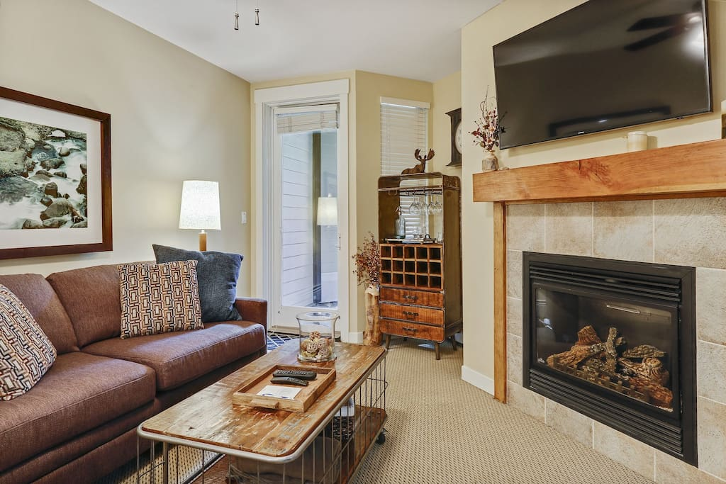 Upgraded amenities with a gas fireplace